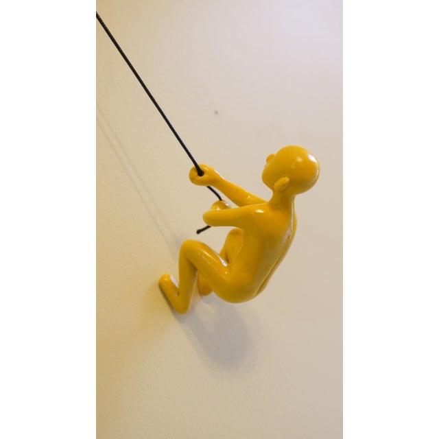 Yellow Climbing Man Wall Art - Image 5 of 5