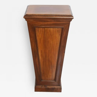 Pair of Italian Neoclassic Faux Bois Painted Pedestals