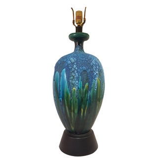 Vintage Fat Lava Glaze Ceramic Lamp