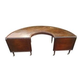 1800s U Shaped English Fox Hunt Coffee Table