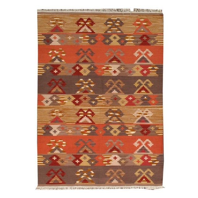 Apadana Multicolor Kilim Rug - 4′9″ × 6′8″ - Image 1 of 1