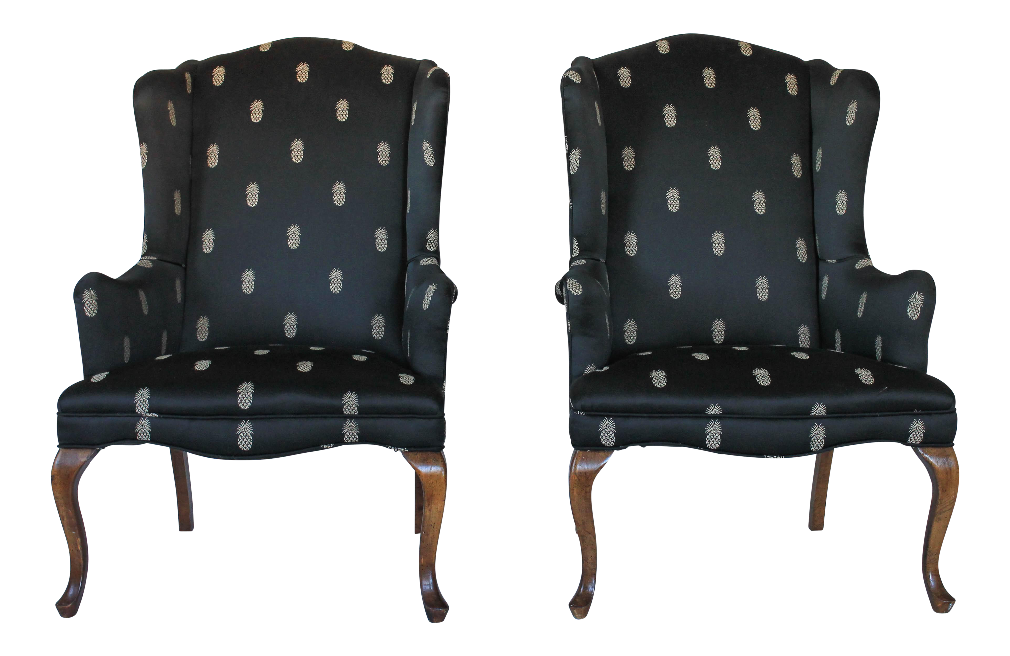 Vintage Used Wingback Chairs Chairish