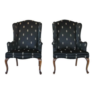 Vintage Wingback Chairs - A Pair