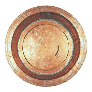 Inscribed Antique Copper Basin