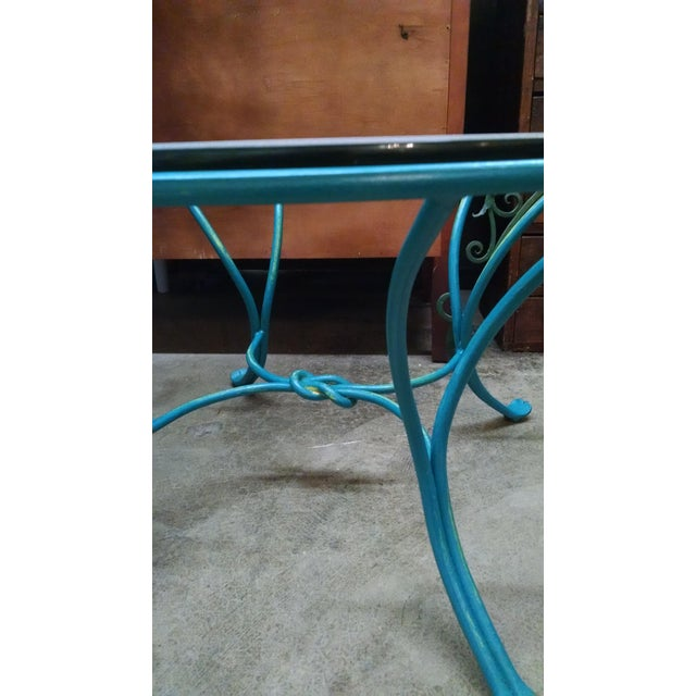 Wrought Iron Glass Top Coffee Table - Image 5 of 5