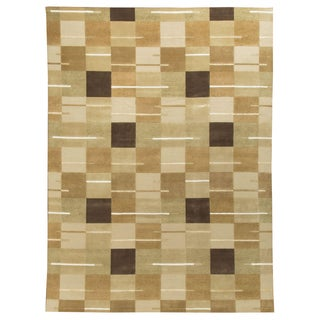 Contemporary Hand-Knotted Wool Rug - 9' x 12'