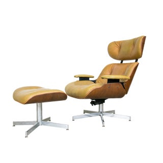 Selig Molded Plywood Lounge Chair & Ottoman