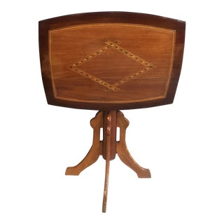 Inlay Wood Tilt-Top Table
