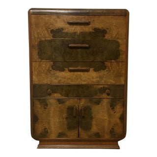 Art Deco Matchbook Veneer Highboy