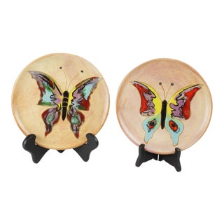 Mid-Century Butterfly Plates - Pair
