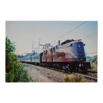 Image of Vintage Railroad Locomotive Photo Postcard