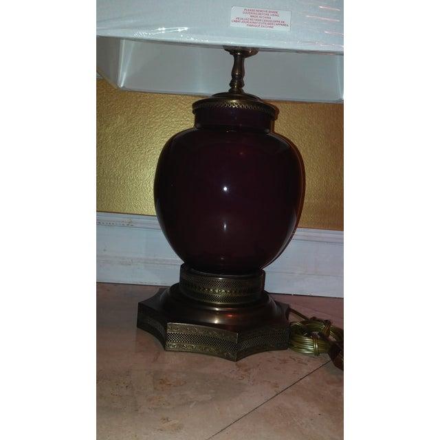 Antique Sang De Boeuf Red Lamps - A Pair - Image 3 of 7