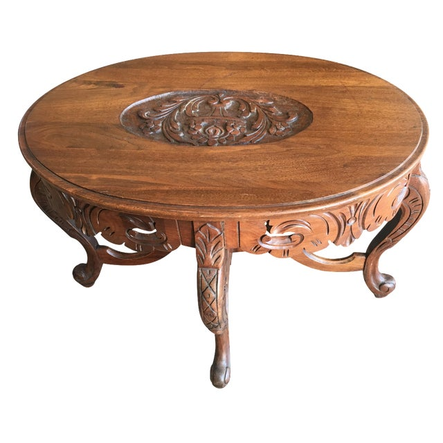 Antique Coffee Tables Ireland: Antique Carved Walnut Coffee Table