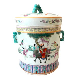 Famille Rose Tea Canister