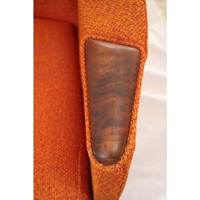 Image of Adrian Pearsall Orange Highback Lounger