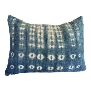 Indigo African Mudcloth Textile Pillow