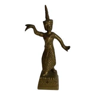 Brass Thai Dancer Figurine