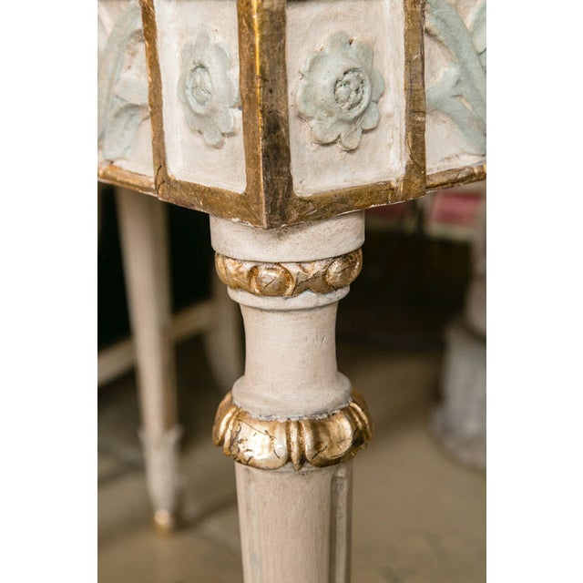 Swedish Paint Decorated Console Tables - A Pair - Image 6 of 8