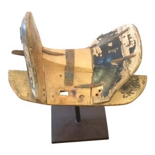 Antiqued Mongolian Pony Saddle Sculpture