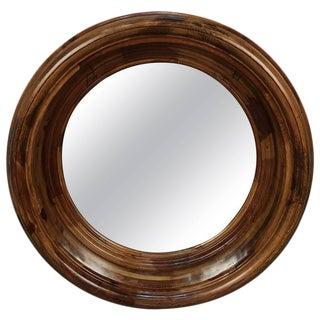 Round Porthole Wood Mirror