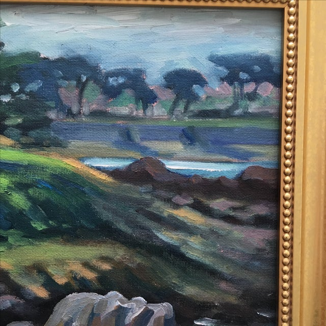 Abstract Seaside Landscape Painting Pacific Grove - Image 6 of 11