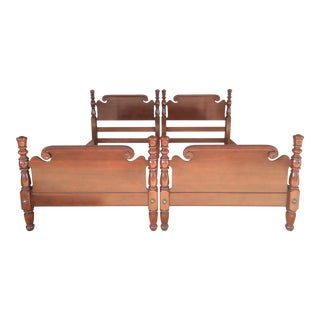 Kling Furniture Solid Cherry Four Poster Twin Beds- A Pair