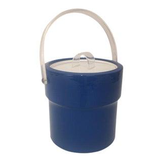 Vintage Mid-Century Blue Ice Bucket