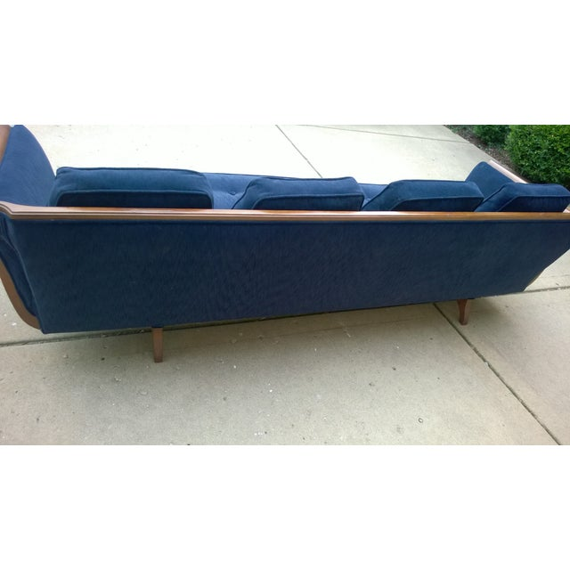 Mid-Century Modern Navy Blue Sofa - Image 6 of 6
