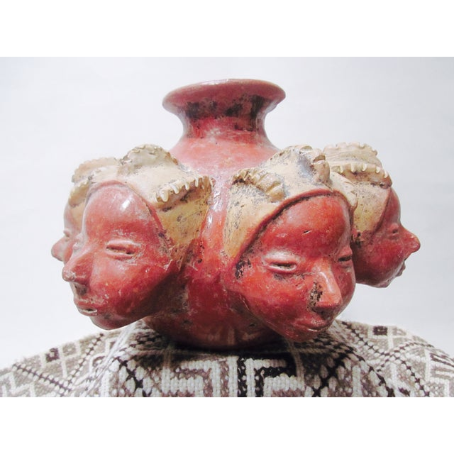 Signed Pottery Surreal Perpetual Face Vase - Image 7 of 10