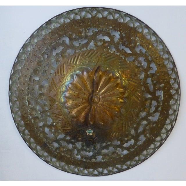 Italian Pierced Flower Brass Metal Wall Art - Image 7 of 7
