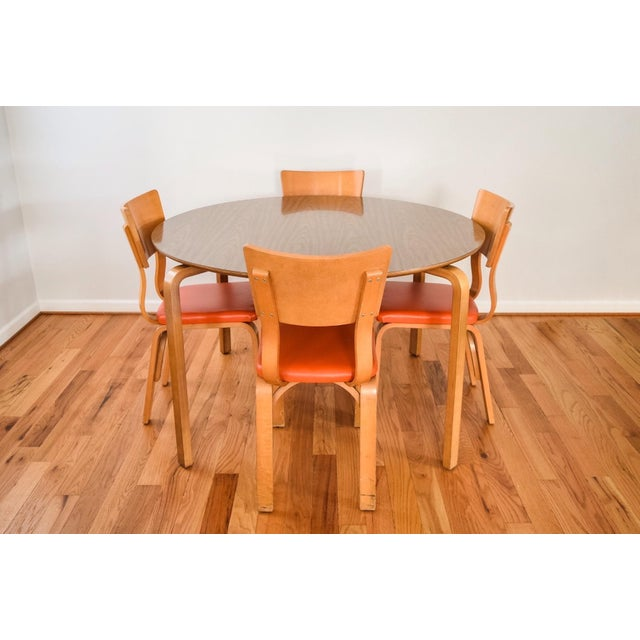 Mid-Century Thonet Bentwood Table & Chairs - Image 3 of 10