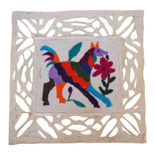 Otomi Embroidered Folk Art I