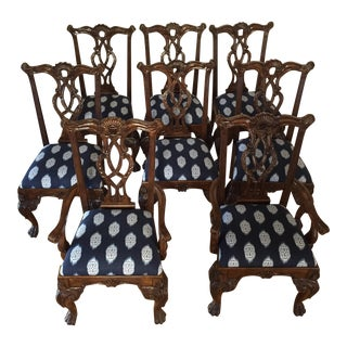 Chippendale Carved Ball & Claw Chairs - Set of 8