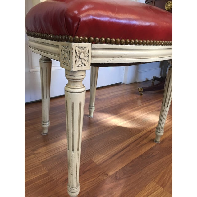 Louis XVI Painted Dining Chairs - Set of 6 - Image 10 of 10