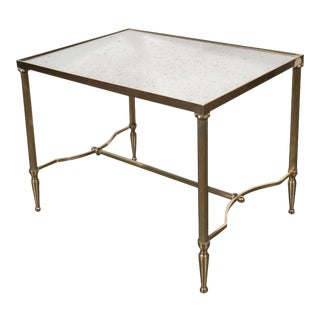 Occasional Table in Brass and Antique Mirror in the Manner of Jansen