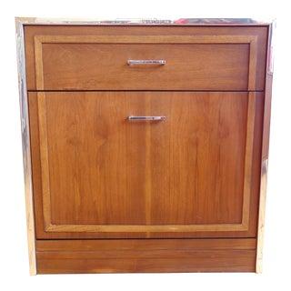 Lane Furniture Mid-Century Walnut Record Cabinet