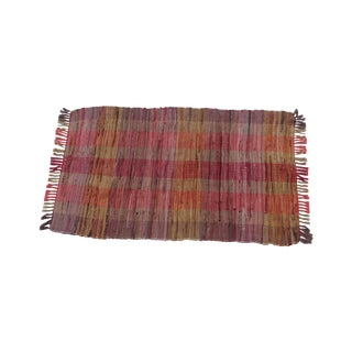 Swedish Hand Woven Rag Rug - 2′4″ × 4′