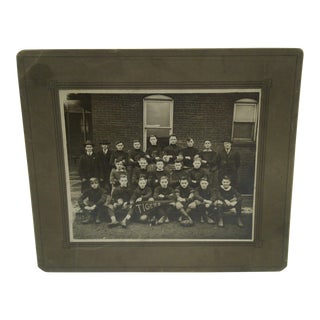 Vintage High School Football Team B&W Photograph