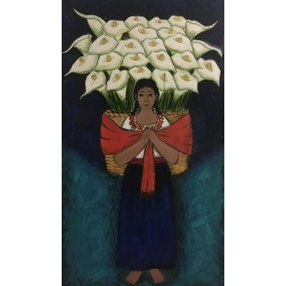 Mexican Flower Seller Painting