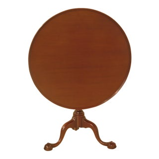 Kittinger Cw-70 Colonial Williamsburg Mahogany Clawfoot Tilt Top Table
