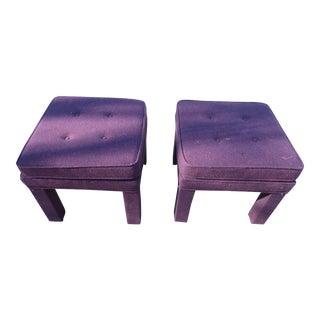 1970s Purple Parsons Stools - Pair
