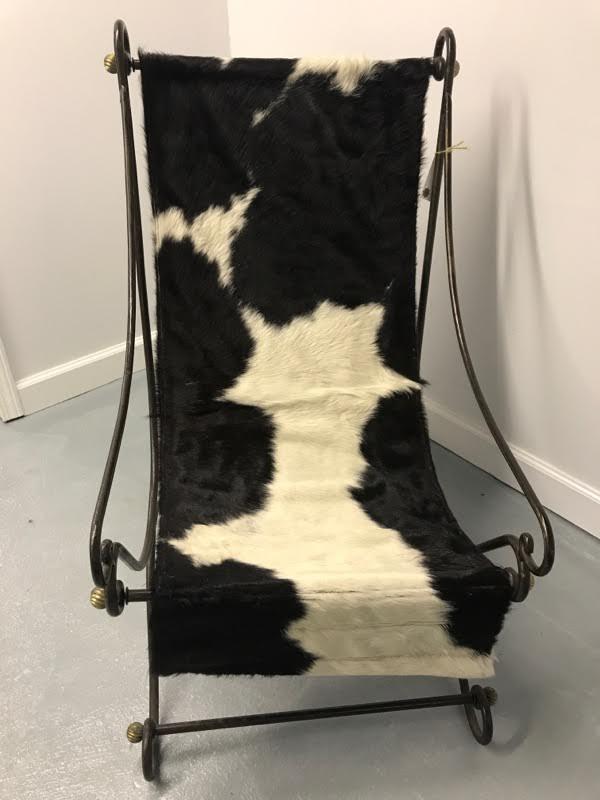 Italian Cowhide Sling Chair   Image 3 Of 7