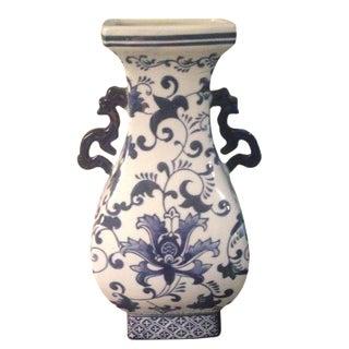 Blue & White Chinoiserie Oriental Vase