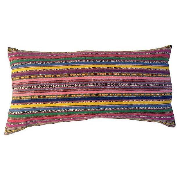 Guatamalin Ikat Colorful Pillow - Image 5 of 5