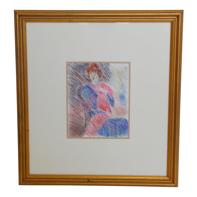 Framed Chalk Pastel Portrait by Dianne Powell - Image 1 of 6