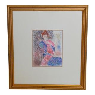 Framed Chalk Pastel Portrait by Dianne Powell