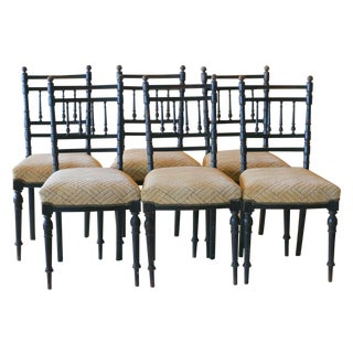 Antique 1890s French Ebonized Chairs - 6