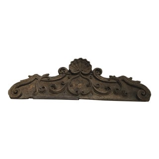 18th c. Spanish Carved Wood Pediment