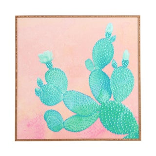 """Pastel Cactus"" Framed Wall Art by Kangarui"