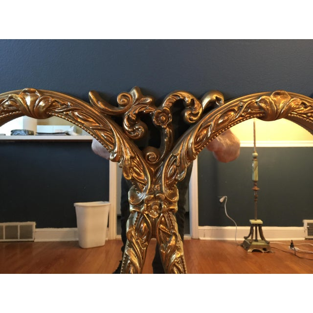 Gold Gilt Triple Mirror - Image 5 of 6
